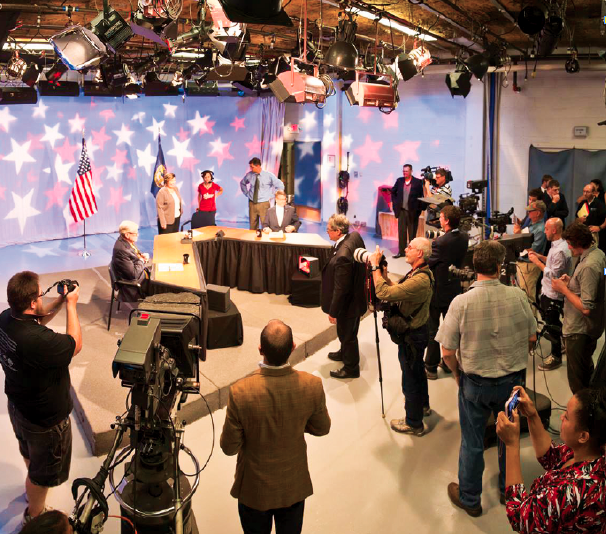Photo courtesy of Eric Anderson Hosted by UNO Television, the congressional debate was carried live on C-SPAN and NET2