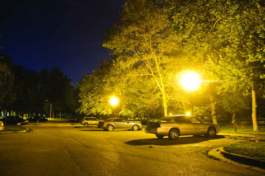 Photo by Evan Ludes/The Gateway Elmwood Park can be a dangerous place for students walking to their cars at night
