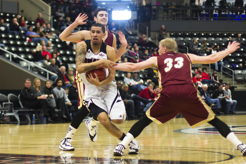 Photos by Evan Ludes/ The Gateway Marcus Tyus finished with 12 points and six assists against Denver.