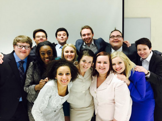 Photo courtesy of  MavForensics The UNO Speech Team, MavForensics, have done exceptionally well at the Hell Froze Over National Tournament, finishing in eight place last year and third place this year.