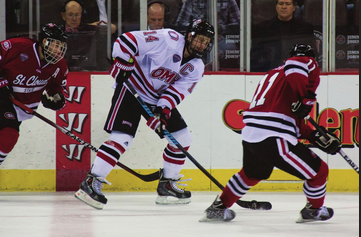 Photo by Evan Ludes/ The Gateway  Despite being out for over a month, Zombo has still offered the Mavericks plenty in terms of off-ice leadership.