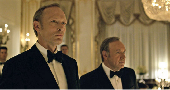 Photo courtesy of ScreenRant  Lars Mikkelen and Kevin Spacey square off in the latest season of Netflix's House of Cards.