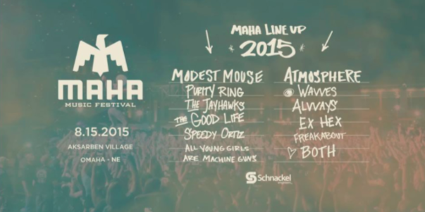 Photo courtesy of Maha Music Festival The lineup for Maha features Modest Mouse and Atmosphere among other acts.