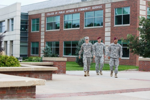 Military group on campus PHOTO COURTESY OF UNO