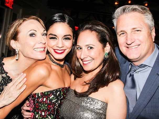 "Segal (third from the left) with Vanessa Hudgens, who plays ""Gigi"". Photo Courtesy of Broadway.com"