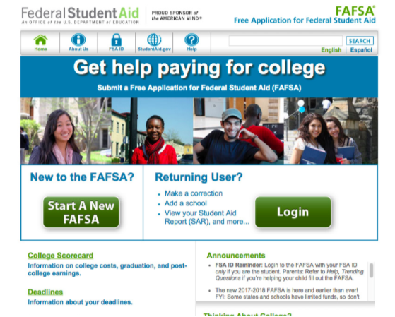 New FAFSA guidelines require Financial Aid to update software