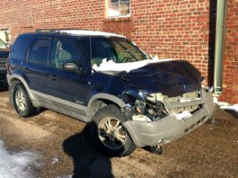 Ismael Mendoza's truck was totaled Monday after hitting a semi