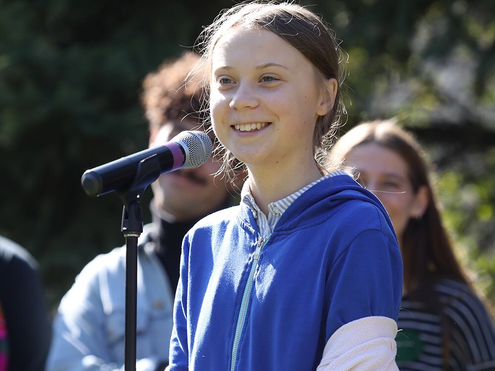 Greta Thunberg is speaking
