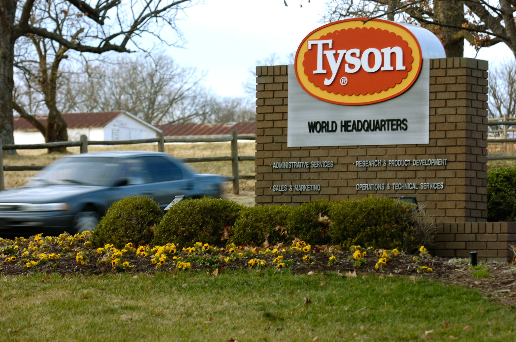 An image of the outside of Tyson World Headquarters