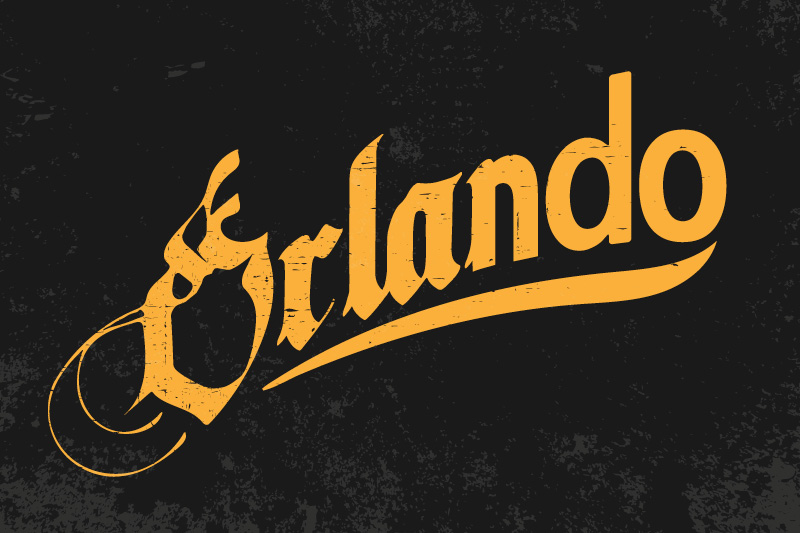 "A logo for the play ""Orlando"""