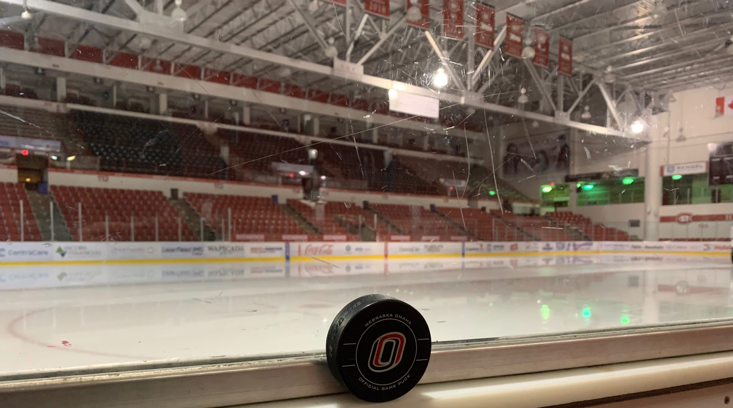 An image of the hockey arena at St. Cloud State.