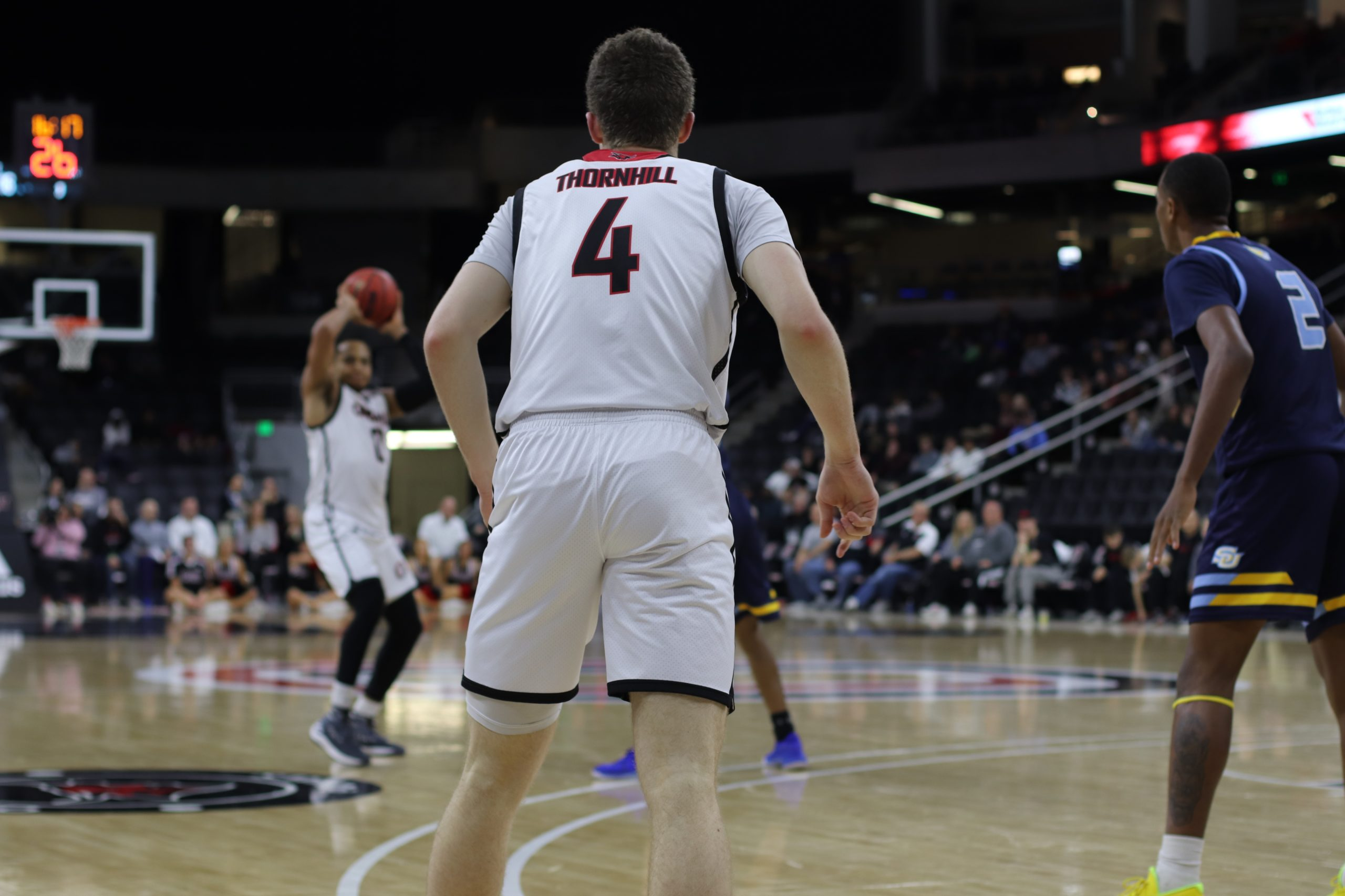 Omaha's Zach Thornhill in a home game against Southern University.