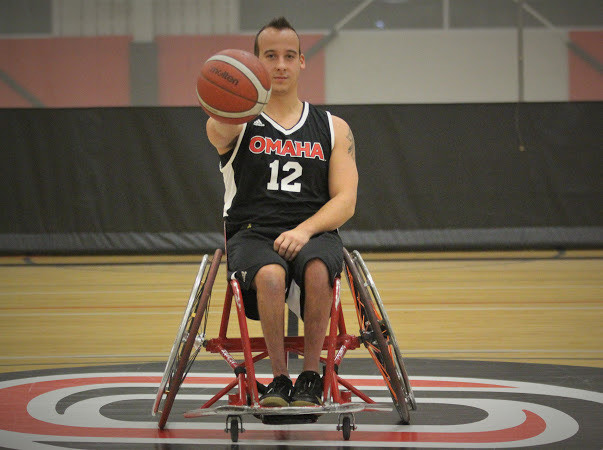 An image of a wheelchair basketball player